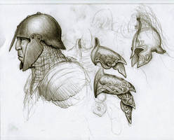 orc anf elf sketches by BrokenMachine86