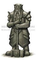 Dwarf statue by BrokenMachine86