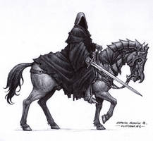 Nazgul - Inktober 06/2018 by BrokenMachine86