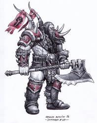 Warcraft Orc - Inktober 25/2018 by BrokenMachine86