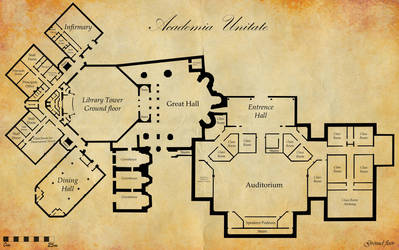 Ground plans - Academia Unitate by Puer-Dracul
