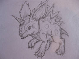 Realistic Nidoran Male by drgknot