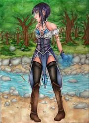 Water elementalist by Lexou-chan