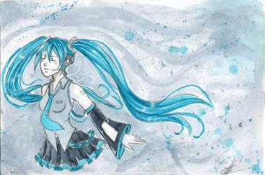 Miku floating by Lexou-chan