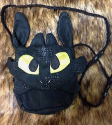 How to Train your Dragon Purse: Toothless by forensicfox