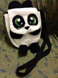 Little Blushing Panda Purse by forensicfox