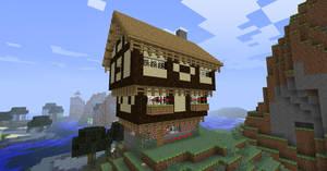 Minecraft Tudor House by NiegelvonWolf