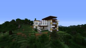 Hilltop retreat (Modern Home - Minecraft) by NiegelvonWolf