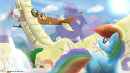 Scootaloo learns to Fly. by NiegelvonWolf