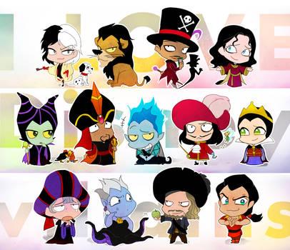 I LOVE Disney villains by y-yuki