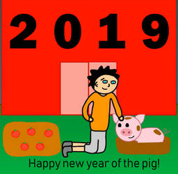 Happy New Year of the Pig! by SunnySquirrel