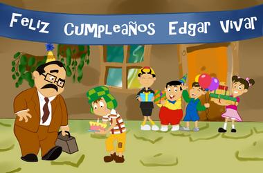 feliz cumpleanos Edgar Vivar 2018 by small-world-queen