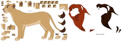 TLK Lineart 2 - Pridelander lioness by Maisha-Iris