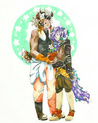 DUO COMMISSION! OKIROSE + MESTARITHEMOTH by BobaChoco
