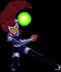 Badass Starfire attacks by Alienlina
