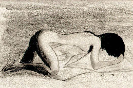 Early nude sketch by DocMallard