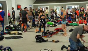 Packing Floor Crowd by DocMallard