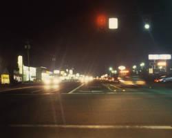 Street at night by DocMallard