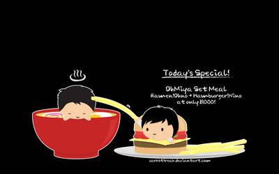 Ohmiya Set Meal by CarrotFreak