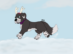 Dashing through the snow by PizzzaBagels