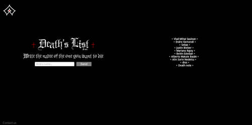Death's List by LuxieBlack