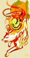 :The great god-Okami: by E09ETM