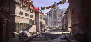 Medieval Town by CrimsonSword03