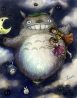 Totoro - Fly with me by 7AirGoddess3