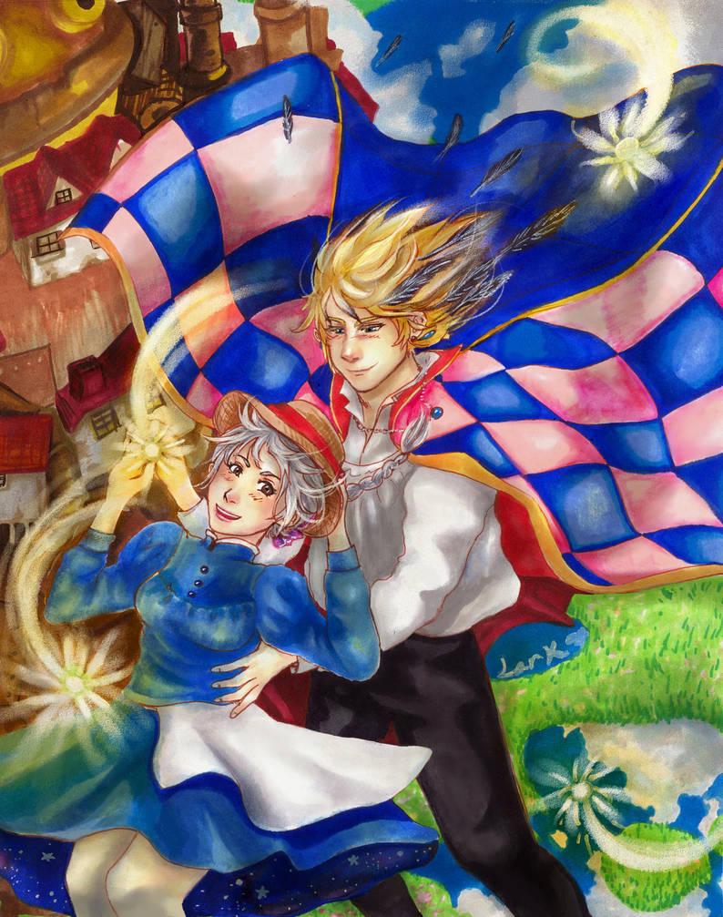 Howl's Moving Castle - Skyscape by 7AirGoddess3