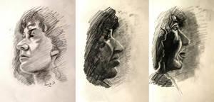 Quick portrait studies by 7AirGoddess3