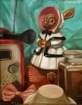 Still life with wooden rabbit by 7AirGoddess3