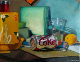 Still life with Coke can by 7AirGoddess3