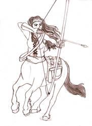 Draw a centaur day by Kindii