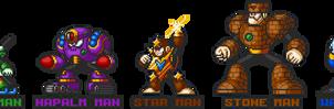 Mega Man 5 robot masters in Mega Man 7 style. by ZEDIC0N
