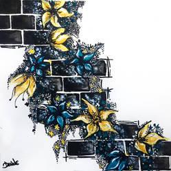 Wall of flowers by DraganaDande
