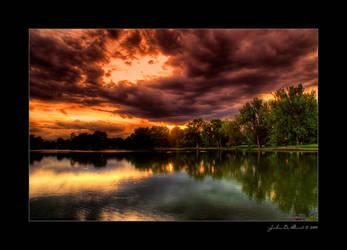 Memory Of A Summer Sunset Sky by kkart