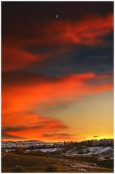 Dance Of A Winter Sunset Wind by kkart