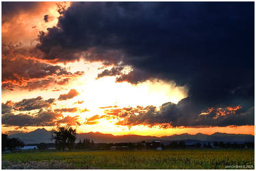A Stormy Sunset by kkart