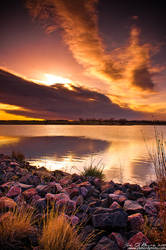 Sunrise Over Lake Ladora by kkart