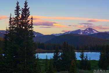 Sunrise Over Echo Lake by kkart