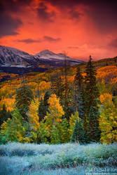 Autumn Dawn Over Kebler Pass by kkart
