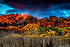 An Autumn Sunset Over Kebler Pass by kkart