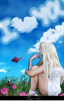 I write on the sky: I love you by BeBitzY