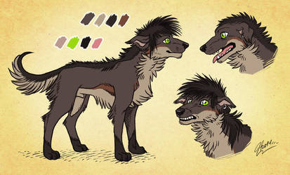 Jasha, dog form -quick color reference by MacGreen