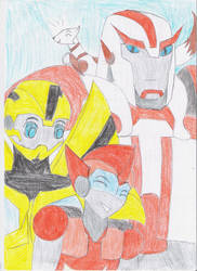 Family: Radar, Bee, Ratchet and Mixi by HNewCrossP93