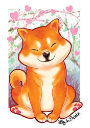 Cute little shibe by Adlynh