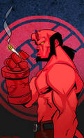 Hellboy by charco