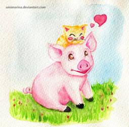 Piggy Love by umimarina