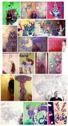 4 years of schizo murals by jeanwoof