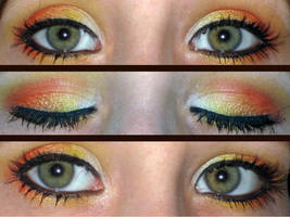 Gryffindor make up eyes by Toxic-Sway